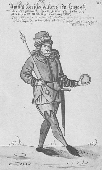 Amleth - Amblett in a 17th-century Danish manuscript illustration