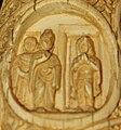 Amrapali greets Buddha Roundel 36 buddha ivory tusk.jpg