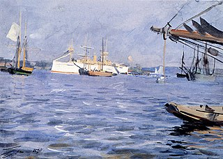 The Battleship Baltimore in Stockholm Harbor