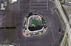 Angel Stadium of Anaheim (nasa world wind 1.3.5)