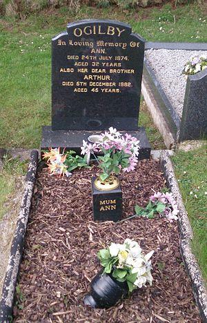 Murder of Ann Ogilby - Ann Ogilby's grave at Umgall Cemetery.