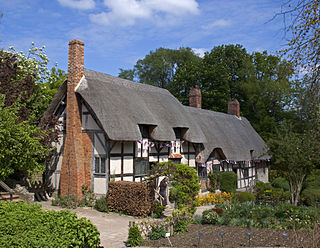 Anne Hathaways Cottage historical building in Shottery associated with Anne Hathaway