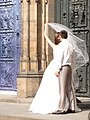 Anonymous Newlyweds at Church Door.jpg