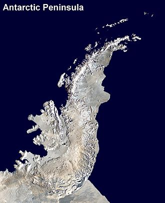 Antarctic Peninsula - Satellite image of Antarctic Peninsula.
