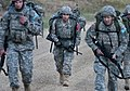 Anthony Mederos begins four mile ruck march.JPG