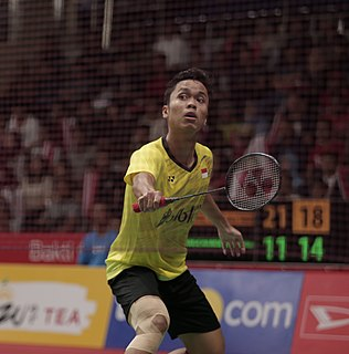 Anthony Sinisuka Ginting Badminton player