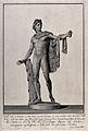 Apollo. Engraving by F. Piranesi, 1783, after L. Corazzari. Wellcome V0036074.jpg