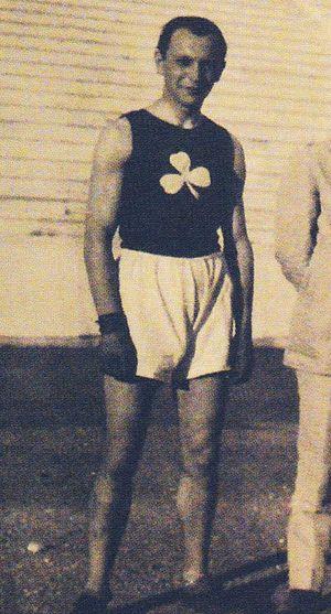 Apostolos Nikolaidis (athlete) - Apostolos Nikolaidis as basketball player with Panathinaikos in 1919
