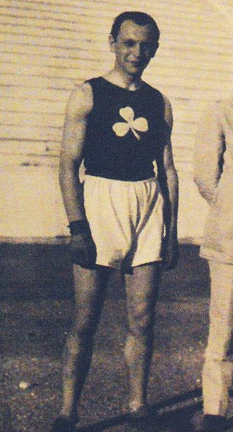 Apostolos Nikolaidis (athlete) - Apostolos Nikolaidis as basketball player with Panathinaikos in 1919