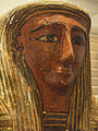 April 26, 2012 - San Diego Museum of Man - Face of Anthropoid Mummy Coffin, Late Period (26th-30th Dynasty).jpg