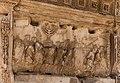 Arch Titus, relief Jerusalem treasure, Forum Romanum, Rome, Italy.jpg