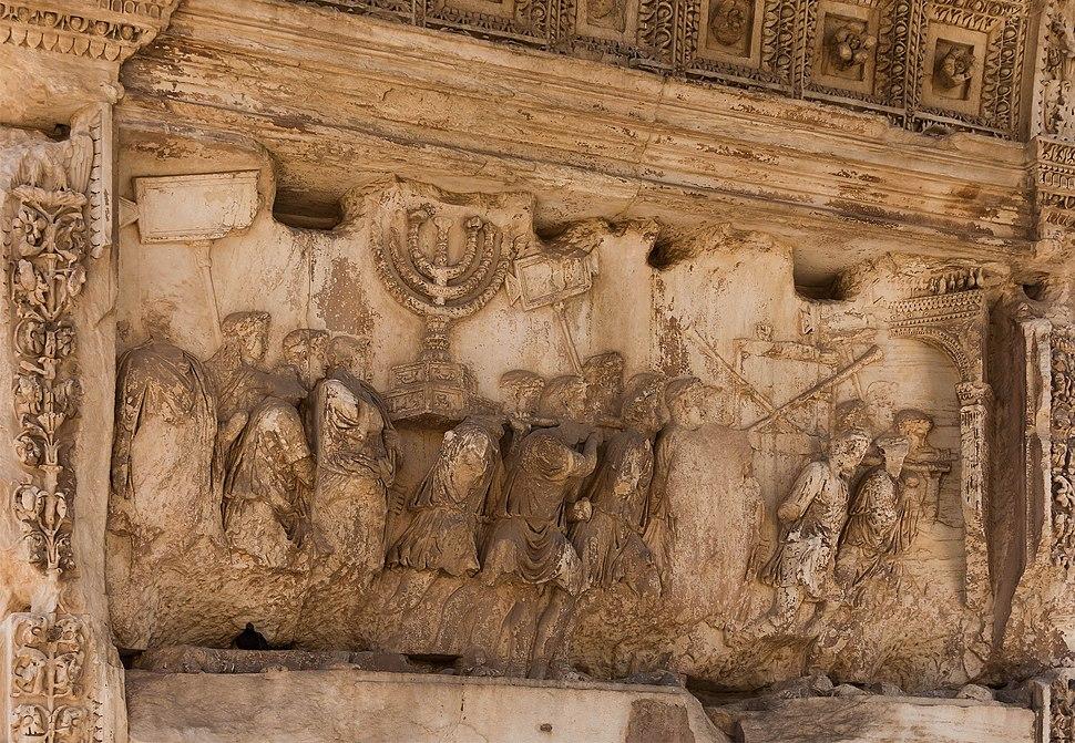 Arch Titus, relief Jerusalem treasure, Forum Romanum, Rome, Italy