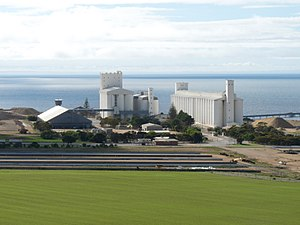 Food processing - Grain silos in Ardrossan, Scotland