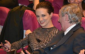 Dracula 3D - Asia and Dario Argento at the film's screening at the 2012 Cannes Film Festival.