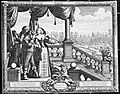 Aristocrats smelling flowers on the steps of an ornamental g Wellcome V0007678.jpg