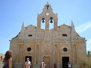 Arkadi - View of the Monastery of Arkadi.
