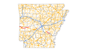 Arkansas Highway 88 - Image: Arkansas 88