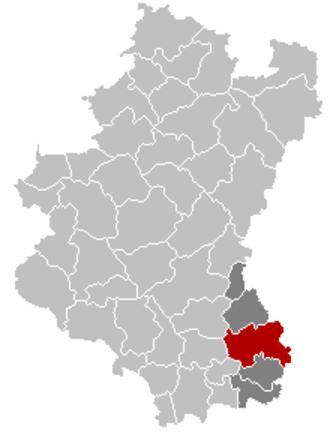 Arlon - Image: Arlon Luxembourg Belgium Map