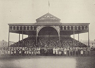 Cardiff Arms Park - The inauguration of the Grandstand on 26 December 1885