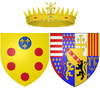Arms of Christina of Lorraine as Grand Duchess of Tuscany.png