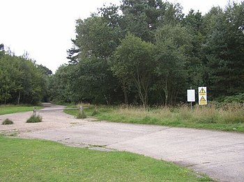 English: Army Land near Deepcut barracks Entra...