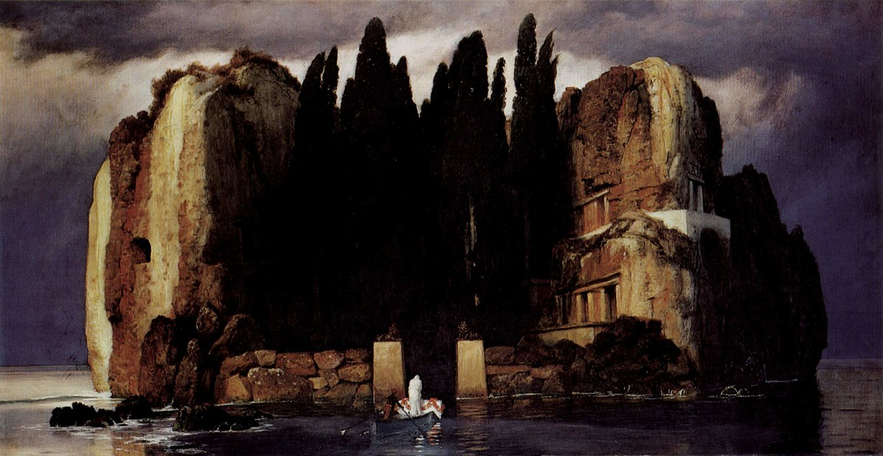 Arnold Böcklin, Isle of the Dead, 5th version, 1886 [https://upload.wikimedia.org]