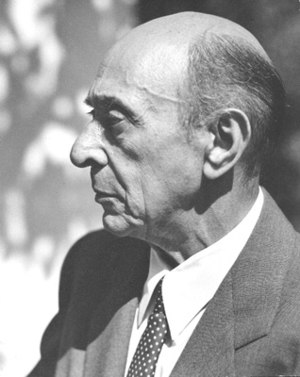 Expressionist music - Arnold Schoenberg, the key figure in the Expressionist movement.