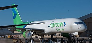 Arrow Air - Arrow Air Boeing 757 stored at Roswell Airport, 2012