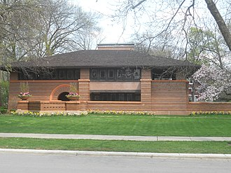 Frank Lloyd Wright - Arthur Heurtley House, Oak Park, Illinois (1902)