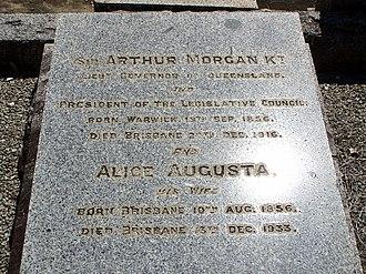 Arthur Morgan (Queensland politician) - Sir Arthur Morgan's headstone at Brisbane's Toowong Cemetery.