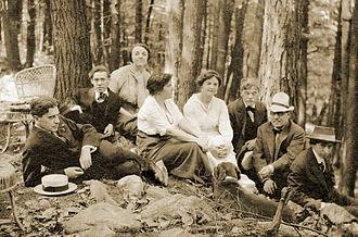 John Marin - Group of artists in 1912, L to R : Paul Haviland, Abraham Walkowitz, Katharine N. Rhoades, Stieglitz's wife Emily, Agnes Ernst Meyer, Alfred Stieglitz, J.B. Kerfoot, John Marin