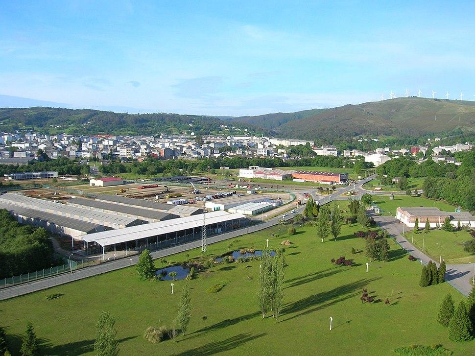Vista da vila dende a Central Térmica