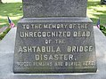 Ashtabula Bridge Disaster Monument closeup.jpg
