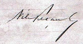 Nilo Peçanha - Image: Assinatura de Nilo Peçanha