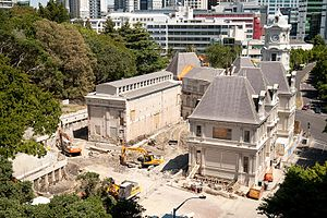 Auckland Art Gallery Toi o Tāmaki - After the demolition of the 1970s extension, in 2009.