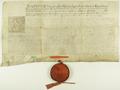 August II król polski zaświadcza, iż posłowie miasta Poznania brali udział w sejmie elekcyjnym i złożyli przysięgę wierności..png