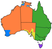 Australia cadastral subdivsions counties