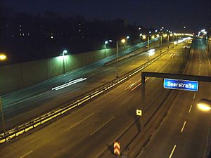 Transport in Berlin - One of the autobahns in Berlin