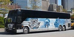 Saint-Georges Cool FM 103.5 - The team bus, operated by Autocar La Chaudière