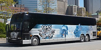 Saint-Georges Cool FM 103.5 - The team bus, operated by Autocar La Chaudière