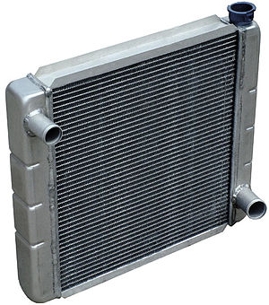 A typical automobile coolant radiator