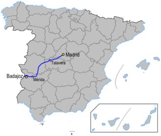 Autovía A-5 - Image: Autoviaesp a 5