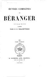 Pierre-Jean de Béranger: Œuvres complètes de Béranger