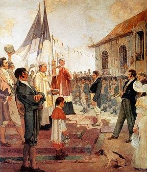 Pernambucan revolt - Image: Bênção das bandeiras da Revolução de 1817