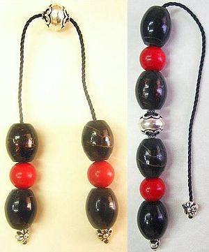 black coral and red coral