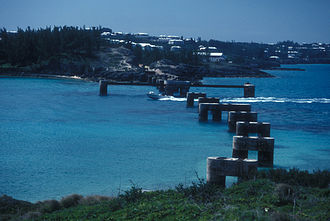 Transport in Bermuda - Remaining piers of one of the railway's bridges