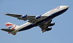 Photo montrant un Boeing 747-400 de la compagnie British Airways