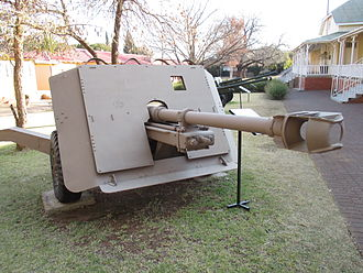 Anti-tank gun - French-designed DEFA D921/GT-2 90mm towed anti-tank gun as mounted on a QF 17-pounder carriage.
