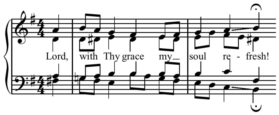 Bach - Chorale- Schau Lieber Gott phrygian cadence