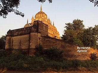 Malhar Rao Holkar - Back view of Malhar Rao Holkar's Chhatrisamadhi at Alampur, Madhya Pradesh